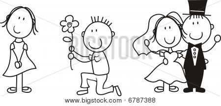 story board Wedding Cartoon