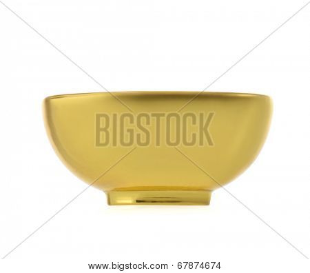 empty golden bowl
