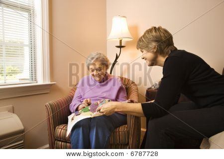 Woman Visiting Older Woman