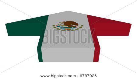 Mexican Flag Inwards Arrow