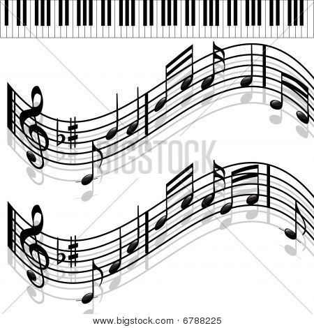 Music notes-Piano-Melody