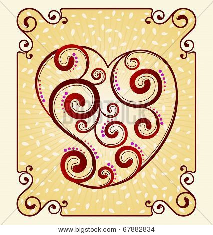 decorative heart symbol