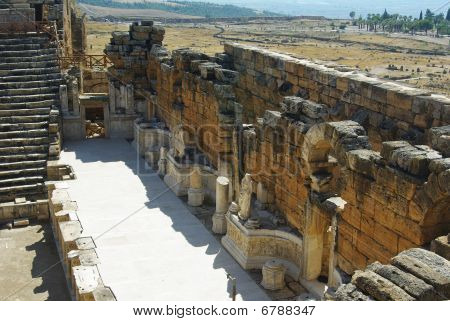 Remains Of Walls And Stairs Of The Ancient City Of Hierapolis