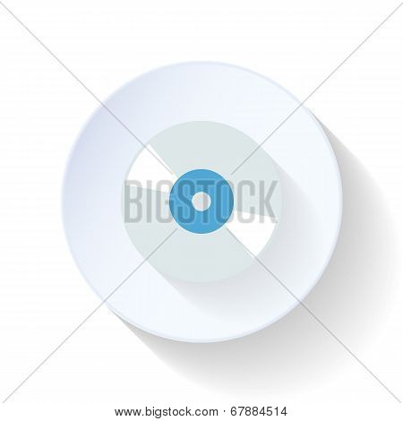 Compact Disk Flat Icon