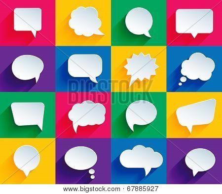 speech bubbles in flat style