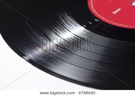 Disco de vinil muito tempo jogando