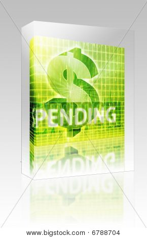 Spending Finance Illustration Box Package Box Package