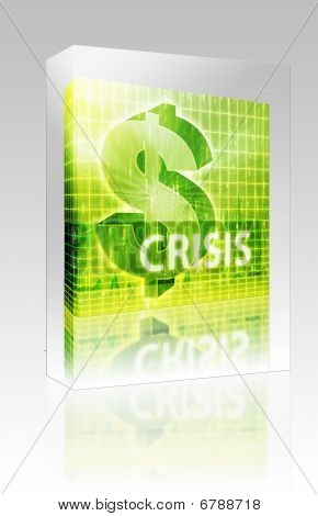 Crisis Finance Illustration Box Package Box Package