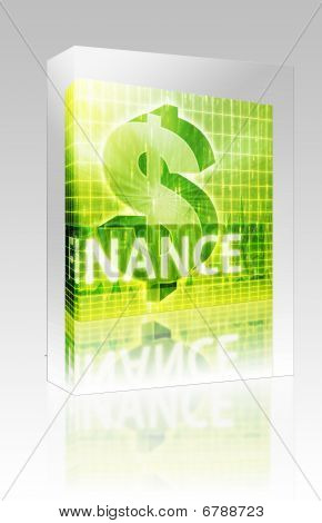 Finance Illustration Box Package Box Package