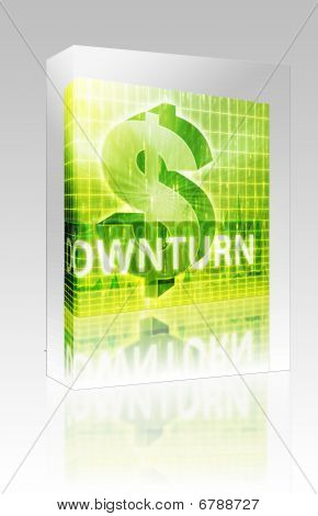 Downturn Finance Illustration Box Package Box Package