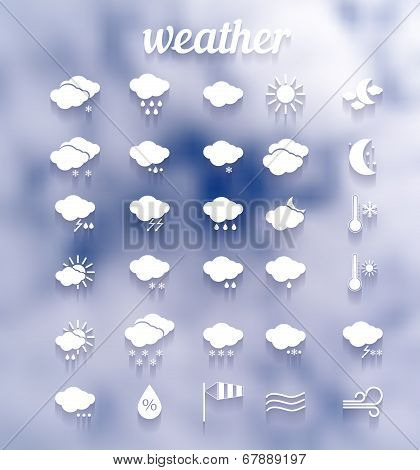 weather icon set .Illustration eps10