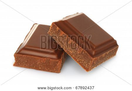 Broken milk chocolate bar