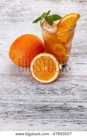 Glass Of Fruit Iced Tea