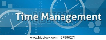 Time Management Business Theme Background Banner