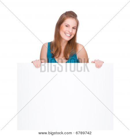 Woman With Banner