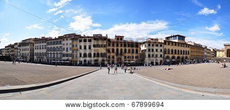 street of Florene in front of Pitti Palace (Palazzo Pitti), Unesco World He