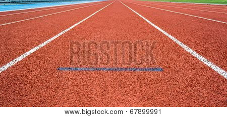 Athletics Start Track Lane