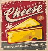 picture of 50s 60s  - Cheese retro poster design - JPG