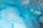 picture of rough-water  - Abstract colorful water color art background hand paint on white background - JPG