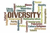 foto of population  - Diversity Word Cloud with White Background - JPG