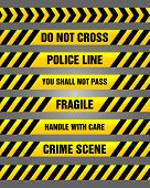 picture of fragile sign  - Set of yellow police and caution tapes with various text such as  - JPG