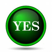 stock photo of proceed  - Yes icon - JPG
