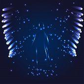 pic of blue angels  - Vector illustration Angel on a dark blue background - JPG