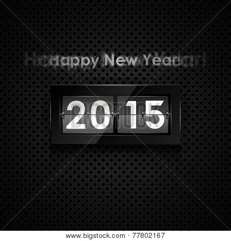 Happy new year 2014 card. Flip clock