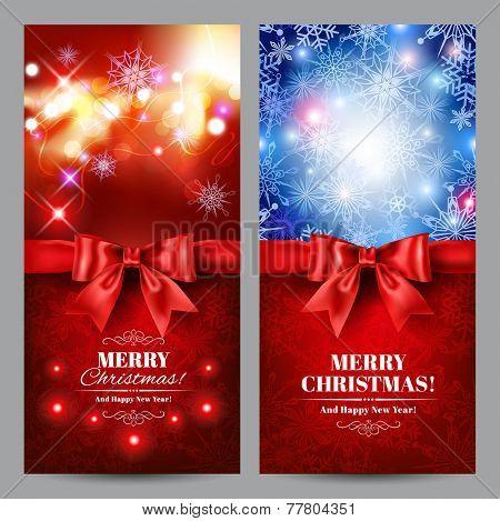 Christmas cards set. Vector eps 10