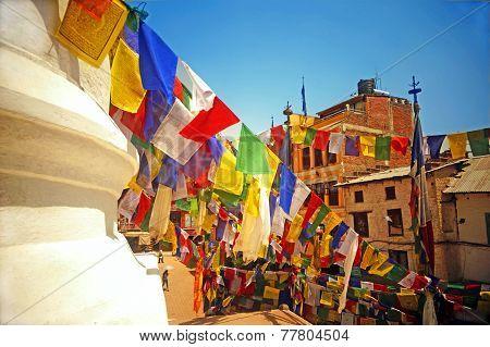 Colourful Buddhist Prayer Flags