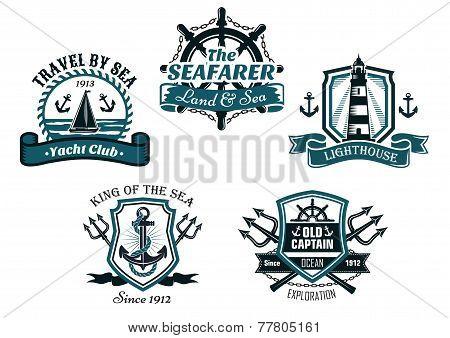 Nautival various heraldic designs
