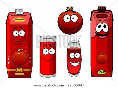 Pomegranate juice and fruit