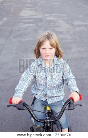 Boy child bicycle cycling