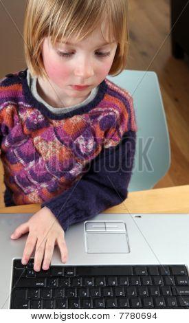 Child Laptop Working