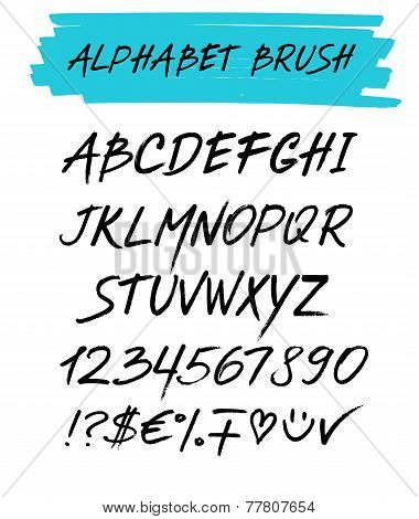 Alphebet Set Brush Style