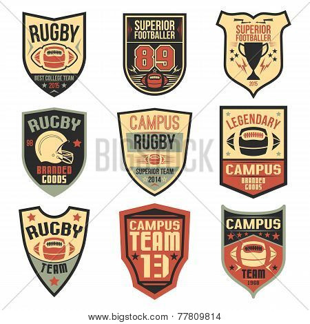 Campus Rugby Team Emblems
