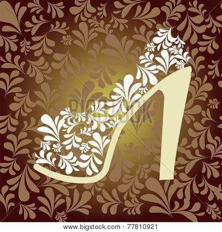 High Heel Shoe High Fashion Background- Illustration