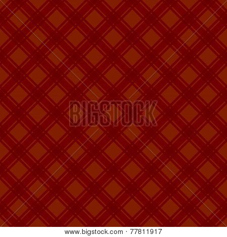 Seamless Red Fabric Tartan Background. Vector