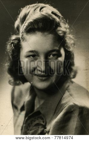 GERMANY, CIRCA 1940s: Vintage photo of woman