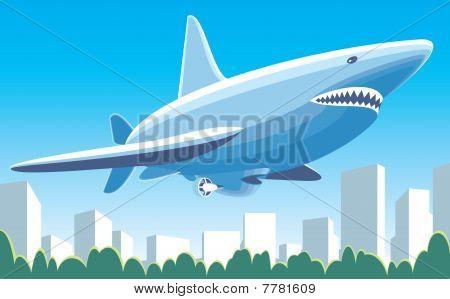 Fantastisches Luftschiff-Haifisch