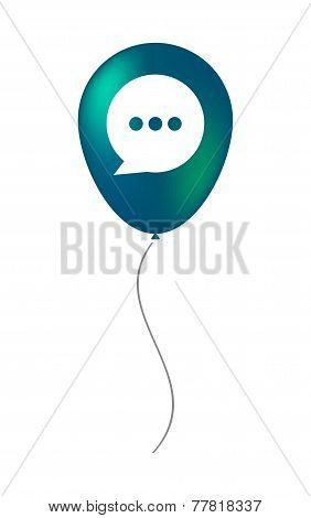 Balloon Icon With A Comic Balloon