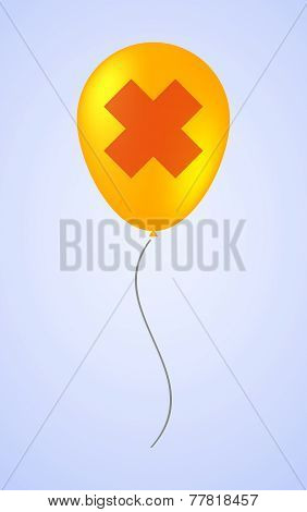 Balloon Icon With An Irritating Substance Sign