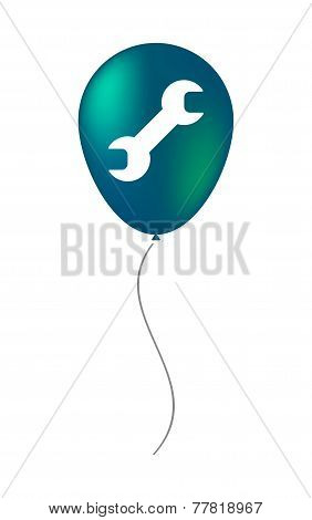 Balloon Icon With A Monkey Wrench