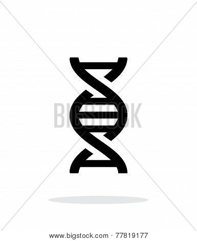 DNA icon on white background.
