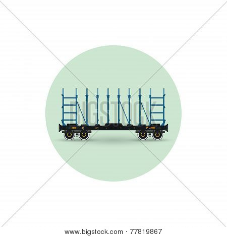 Icon  Of A Railway Platform,  Vector Illustration