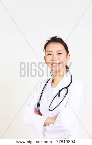 female doctor of eager expression