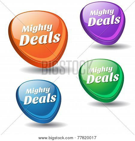 Mighty Deals Colorful Vector Icon Design