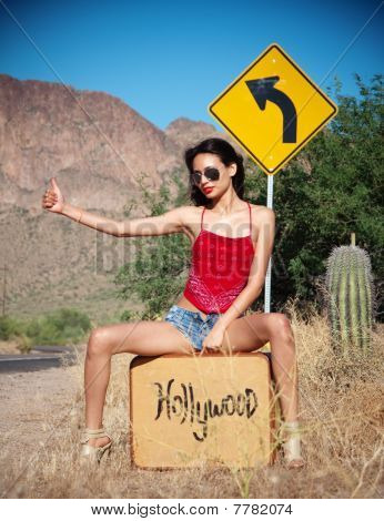 etty woman going to Hollywood