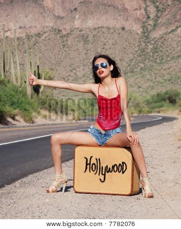 Pretty woman going to Hollywood