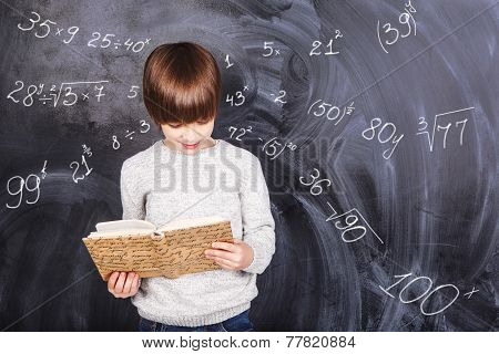 Boy Studying Mathematics